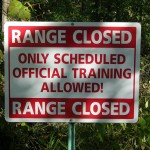 Training Range Sign