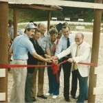 1986 PASA Park Ribbon-Cutting:  IL Rep. Tom Ryder, Quincy Mayor Verne Hagstrom, S&W President Lee Deters, Olympic Silver Medalist Ruby Fox, MO Congressman Harold Volkmer, Barry Mayor Ed Venicombe.